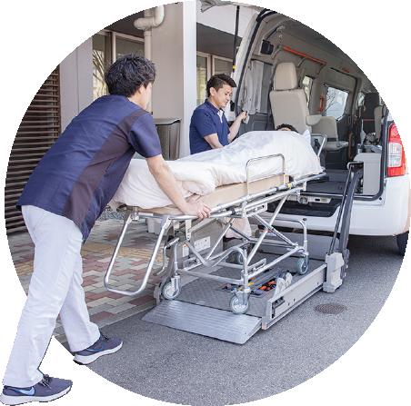 写真:連携病院へ救急搬送時の様子